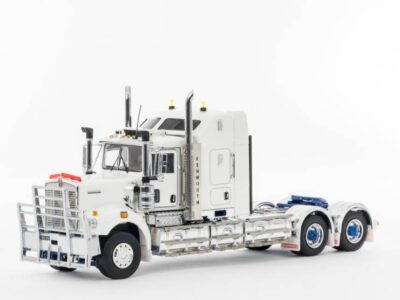 Drake Collectibles Z01520 Kenworth C509 Truck - Sleeper - White / Blue Chassis